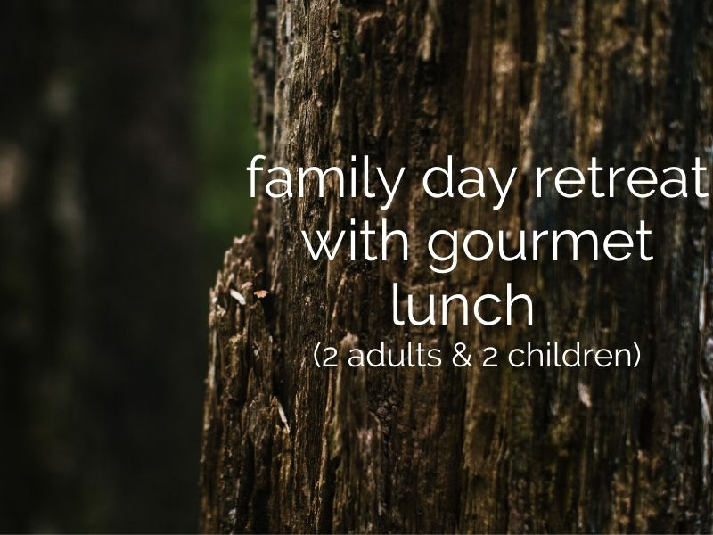 family day retreat with gourmet dining (2 adults & 2 children)