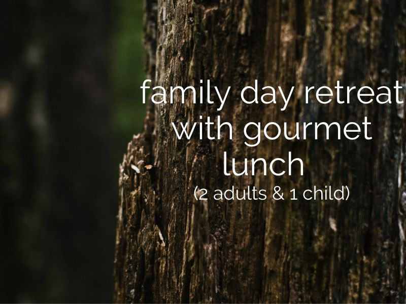 family day retreat with gourmet lunch (2 adults & 1 child)
